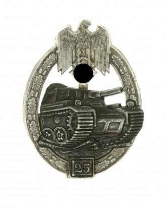 © DGDE GmbH - Tank Badge Grade II (for 25 engagements) – Silver - G.B. Gustav Brehmer, Marneukirchen