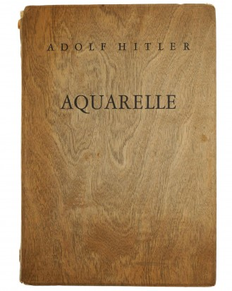 &copy DGDE GmbH - Adolf Hitler Aquarelle in Holzmappe