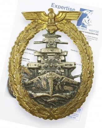 © DGDE GmbH - Kriegsmarine High Seas Fleet Badge by Adolf Bock Schwerin Berlin