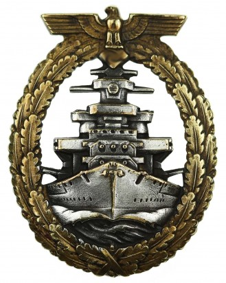 © DGDE GmbH - Kriegsmarine High Seas Fleet Badge by Adolf Bock Schwerin Berlin