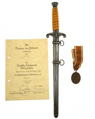 &copy DGDE GmbH - Heeres-Offiziersdolch [M1935] mit zusätzlicher Geschenkwidmung – Eickhorn Solingen