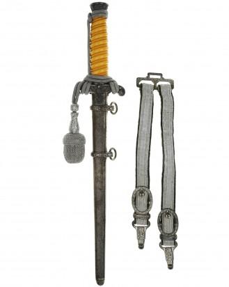 © DGDE GmbH - Heeres-Offiziersdolch [M1935] mit Portepee und Gehänge – WKC Solingen