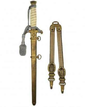 © DGDE GmbH - Army Officer's Dagger with Hangers and Knot