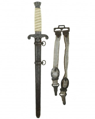 © DGDE GmbH - Army Officer's Dagger with Hangers by F.W. Höller Solingen