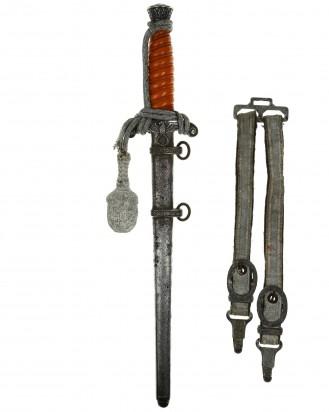 &copy DGDE GmbH - Heeres-Offiziersdolch [M1935] mit Portepee und Gehänge – Original Eickhorn Solingen
