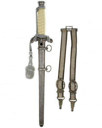 © DGDE GmbH - Army Officer's Dagger [M1935] with Hangers, Portepee and Certificate - P.D. Lüneschloss, Solingen
