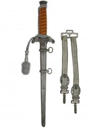 &copy DGDE GmbH - Heeres-Offiziersdolch [M1935] mit Portepee und Gehänge – WKC Solingen