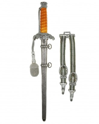 © DGDE GmbH - Army Officer's Dagger [M1935] with Hangers & Portepee by WKC Solingen