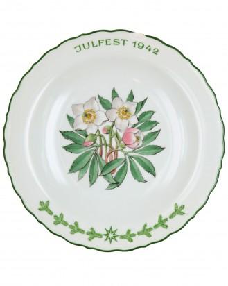 &copy DGDE GmbH - Julfest Plate 1942 - SS Porcelain Allach
