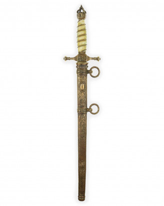 © DGDE GmbH - Imperial Naval Dirk [M1905] with Damascus Blade and Ivory Grip by WKC Solingen