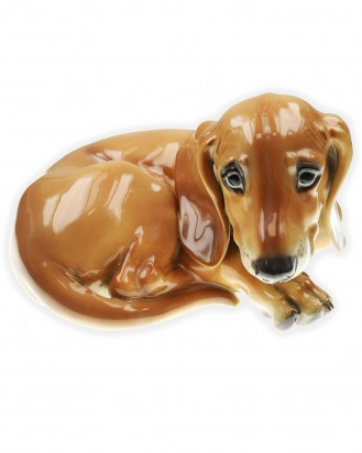 © DGDE GmbH - Painted Lying Dachshund (Allach No. 13) by Prof. Theodor Kärner