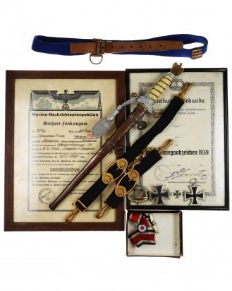 © DGDE GmbH - Bequest: Documents, Awards, Navy Officer Dagger [M1938] by Carl Eickhorn Solingen