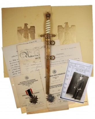 © DGDE GmbH - Documents, Awards, Navy Officer Dagger [M1938] by Carl Eickhorn Solingen