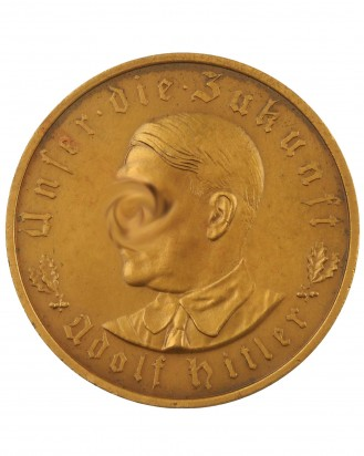 © DGDE GmbH - German Medal: 1933 Bronze Adolf Hitler Schicksalswende
