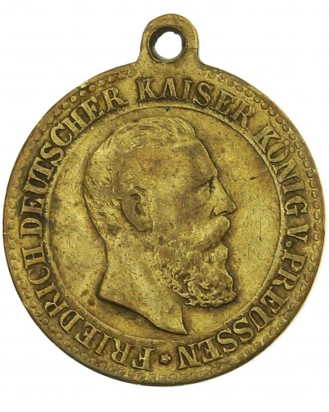 © DGDE GmbH - 1888 Friedrich III, German Emperor & King of Prussia Commemorative Medal