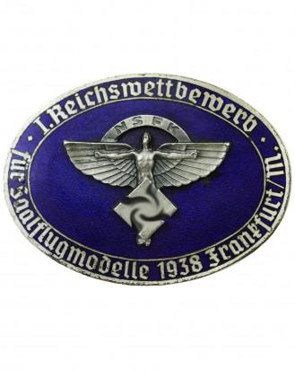 © DGDE GmbH - NSFK Badge: I. Reichswettbewerb für Saalflugmodelle 1938 Frankfurt