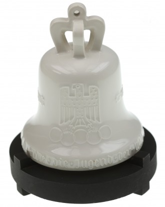 © DGDE GmbH - Olympic Games Bell 1936 with wooden base - KPM Porcelain