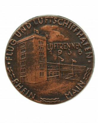 """© DGDE GmbH - Pin """"Flug und Luftschiffhafen Rhein Main"""" - E.F. Wiedmann Frankfurt"""