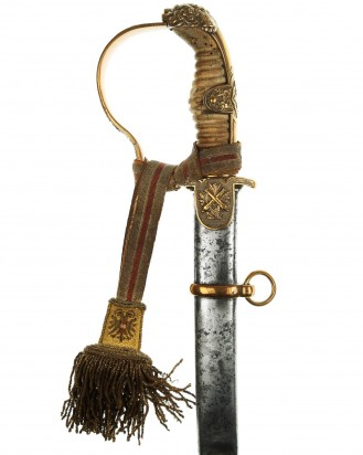 © DGDE GmbH - German WWI Lion Head of the Prussian artillery Officers Sword by WKC