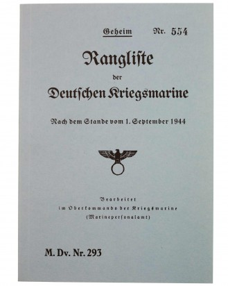 &copy DGDE GmbH - Ranking list of the German Navy in 1944