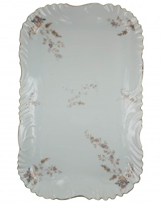 © DGDE GmbH - Antique Victorian Rosenthal Louis XIV Daisy Violet Serving Vanity Tray