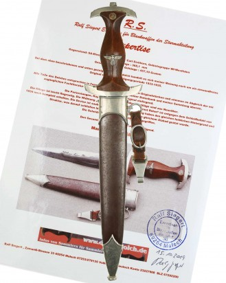 © DGDE GmbH - SA Full Rohm Honor Dagger [Ernst Röhm] by Carl Eickhorn Solingen