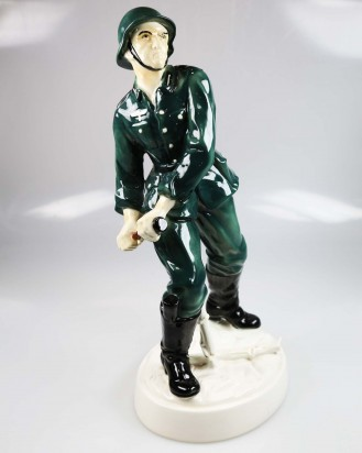 © DGDE GmbH - German Wehrmacht Soldier by Karl Ens Porcelain