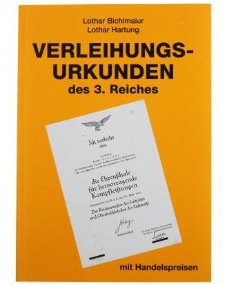 &copy DGDE GmbH - Verleihungsurkunden des 3. Reiches mit Handelspreisen