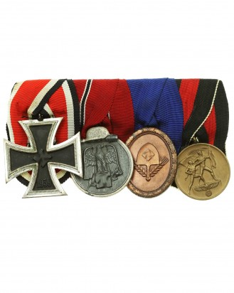© DGDE GmbH - Second War German Medal Bar with four badges