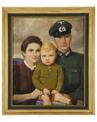 &copy DGDE GmbH - Wehrmacht soldier with family - Large oil painting by Guido Waid
