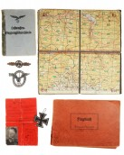 Lot of badges and documents of the German Luftwaffe