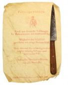 NSDAP / SA Knife in paper