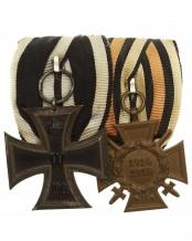 2er Ordenschnalle / Ordensspange eines Soldaten im 1.Weltkrieg