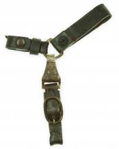 3-Piece Leather Hanger for Dagger