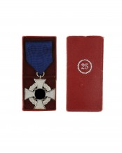 Faithful Service Medal 25 in a case