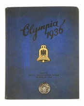 1936 Berlin Summer Olympic Games Medal and Book