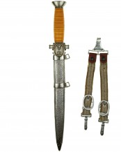 Red Cross Officer's Dagger with Hangers
