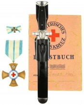 Red Cross EM Hewer [M1938] with Leather Frog