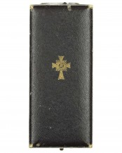 German mother cross in gold by Friedrich Lindee Lüdenscheid