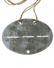 "WW2 German Dog tag ""RAD TS 5 / 08F"""