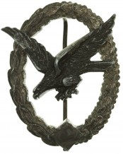 Luftwaffe Air Gunner Badge (without Lightning) by W. Deumer Lüdenscheid