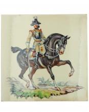 Керамическая плитка Seydlitz Кирасирский офицер (Аллах) - Т. Кернер