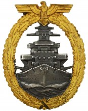 Kriegsmarine High Seas Fleet Badge by Adolf Bock Schwerin Berlin