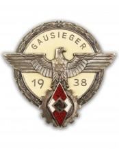 Знак Гитлерюгенд победителя спортивного соревнования GAUSIEGER 1938 г. - G. Brehmer Markneukirchen