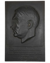 Honour Plaque of the Fuhrer (Adolf Hitler) - Ges.Gesch.