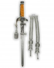 Army Officer's Dagger with Hangers by Carl Eickhorn Solingen