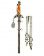 Army Officer's Dagger with Hangers by E.&F. Hörster Solingen