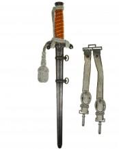 Heeres-Offiziersdolch [M1935] mit Portepee und Gehänge – Original Eickhorn