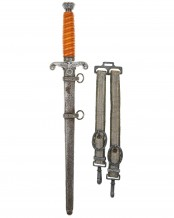 Army Officer's Dagger with Hangers by Alcoso Solingen