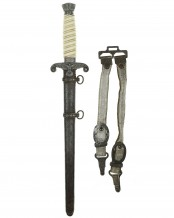 Army Officer's Dagger with Hangers by F.W. Höller Solingen